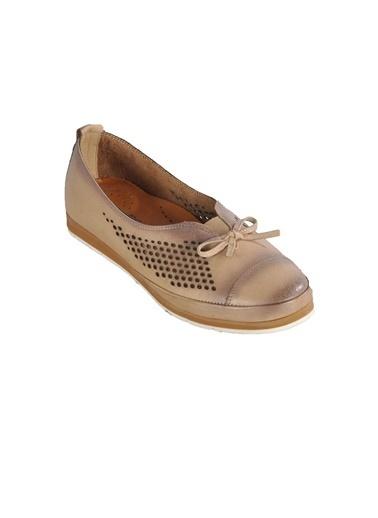 Ayakmod 119 Krem Kadın Günlük Hakiki Deri Ayakkabı Krem